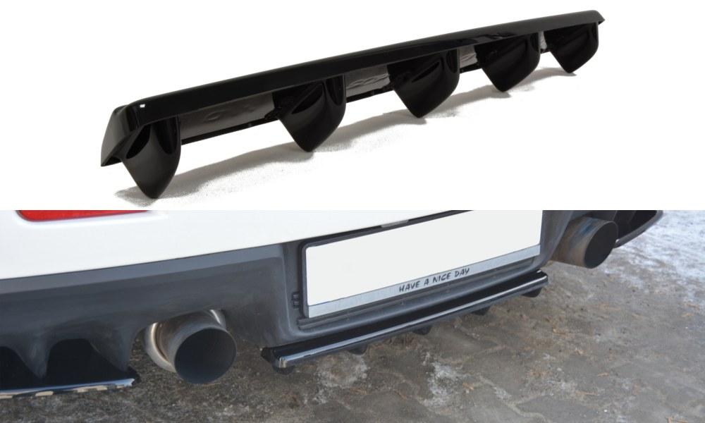 Splitter Tylny Środkowy Mitsubishi Lancer Evo X (Z dyfuzorem) - GRUBYGARAGE - Sklep Tuningowy